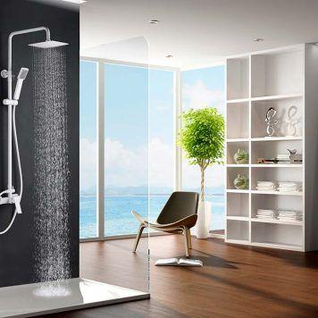 Rampa de duche extensível Imex-Art branco mate