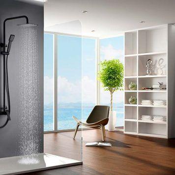 Rampa de duche em aço inoxidável Imex-Art preto mate