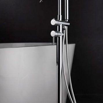 Torneira externa de banheira Imex série Corcega ambiente cromado