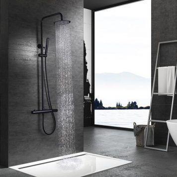 Conjunto de duche preto