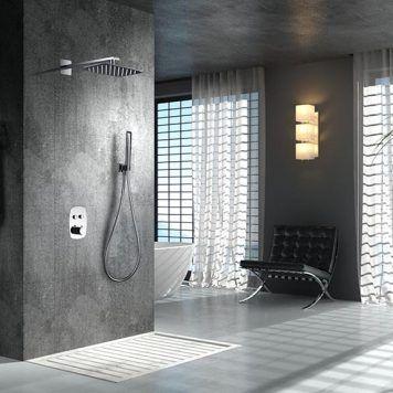 Chuveiro embutido termostático de parede