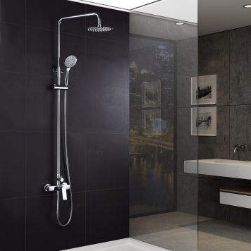Conjunto de duche Imex série Luxor cromado