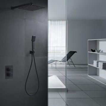 Conjunto duche embutido termostático Imex série Cíes