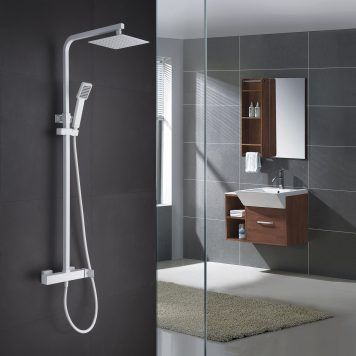 Conjunto de duche Imex série Fiyi branco mate