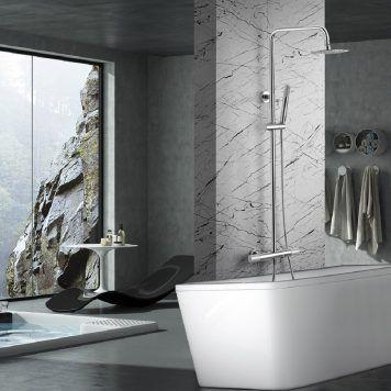 Conjunto banheira e duche termostático Line